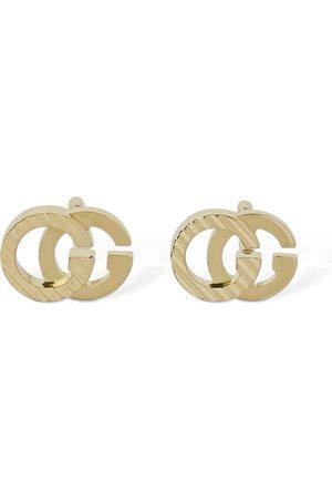 Gucci 18kt Gg Running 7mm Stud Earrings