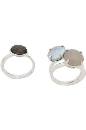WOUTERS & HENDRIX Women Rings - My Favourites pearls and agate stones ring