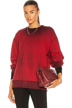 Cotton Citizen Brooklyn Crew Neck Sweatshirt in Ruby Mix
