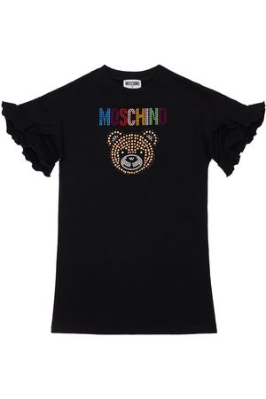 Moschino Sequins Toy Cotton Sweat Dress