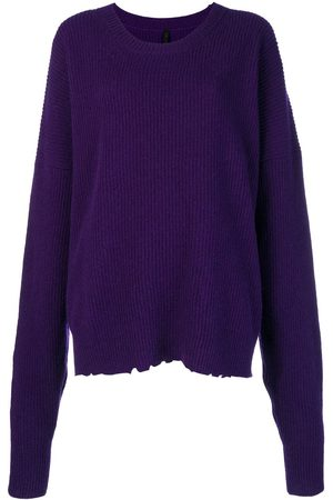 Unravel Project Women Jumpers - Oversized distressed crew-neck sweater