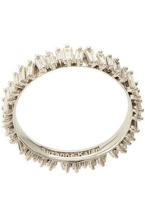 Suzanne Kalan Women Rings - 18kt white gold baguette diamond eternity band