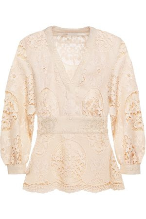 MAJE Women Blouses - Woman Lalou Guipure Lace Blouse Neutral Size 1