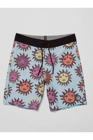 Volcom Boys Swim Shorts - Men's Ozzy Trunk Boardshort - AETHER - (Boys)