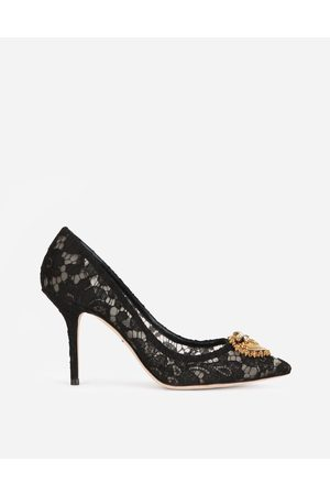 Dolce & Gabbana Women Heels - Pumps - TAORMINA LACE PUMPS WITH DEVOTION HEART female 35