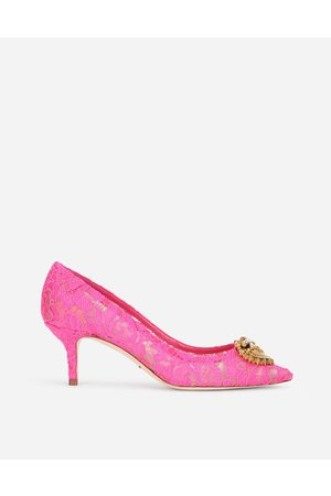 Dolce & Gabbana Pumps - TAORMINA LACE PUMPS WITH DEVOTION HEART female 35