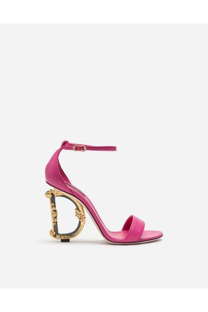 Dolce & Gabbana Women Sandals - Sandals and Wedges - NAPPA SANDALS WITH BAROQUE DG HEEL female 37