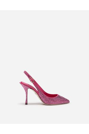 Dolce & Gabbana Pumps - SLING BACKS IN SATIN AND CRYSTAL female 35.5