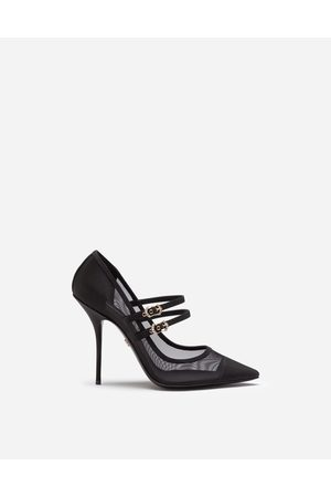 Dolce & Gabbana Women Heels - Pumps - PUMPS IN MESH AND GROSGRAIN WITH TWO STRAPS female 38