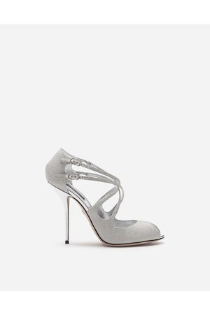 Dolce & Gabbana Women Sandals - Sandals and Wedges - GLITTERY NAPPA MORDORE SANDALS female 37
