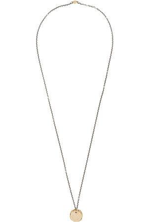 M. COHEN Double engraved pendant necklace