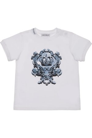 Dolce & Gabbana Printed Logo Cotton Jersey T-shirt