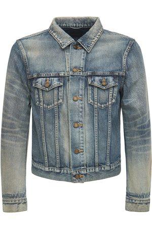 Saint Laurent Fitted Denim Cotton Jacket