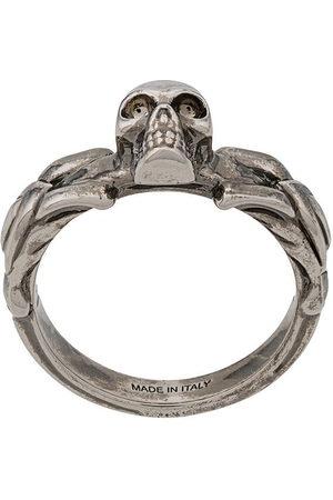 Alexander McQueen Skull-detail braided ring