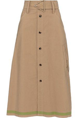 Bottega Veneta High-rise midi skirt