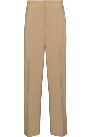Vince Women Formal Trousers - High-rise wool-blend straight pants