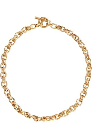 Tilly Sveaas Small Double Link 18kt -plated necklace