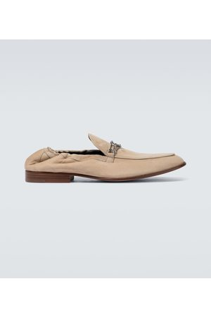 Lanvin Suede loafers with metal detail