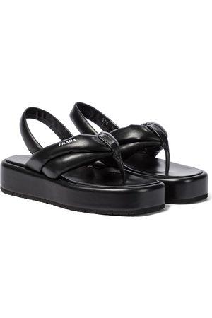 Prada Padded leather platform sandals