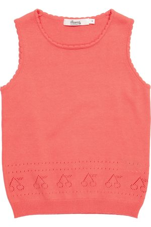 BONPOINT Girls Tank Tops - Pointelle cotton tank top
