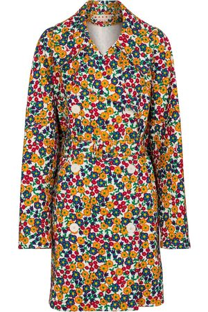 Marni Floral denim double-breasted coat