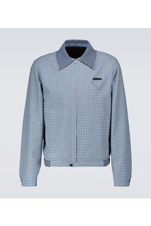 Prada Men Coats - Wool checked blouson jacket