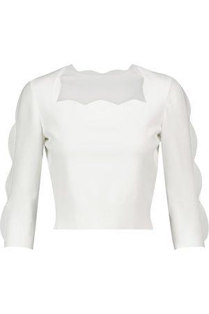 Alaïa Women Jumpers - Scalloped stretch-knit sweater
