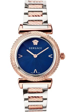 VERSACE V-Motif Ladies Dial Stainless Steel Bracelet Watch