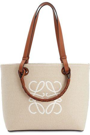 Loewe Women Shopper & Tote Bags - Jacquard Anagram Canvas Tote Bag