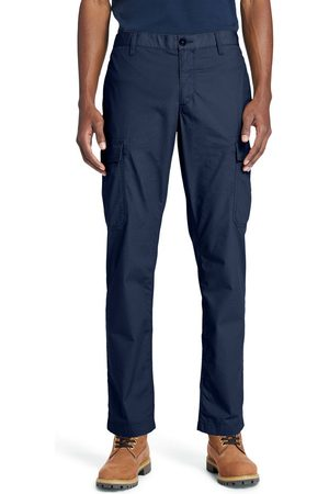 Timberland Men Trousers - Poplin cargo trousers for men in navy navy, size 28x32