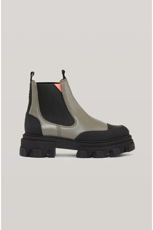 Ganni Women Chelsea Boots - Calf Leather Low Chelsea Boot