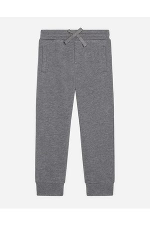 Dolce & Gabbana Boys Trousers - Trousers and Shorts - JERSEY JOGGING PANTS WITH PLATE male 2