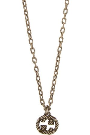 Gucci Men Necklaces - GG Rope-engraved Sterling- Necklace - Mens