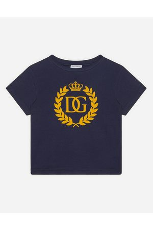 Dolce & Gabbana T-Shirts and Polo - JERSEY T-SHIRT WITH DG CROWN LOGO male 2