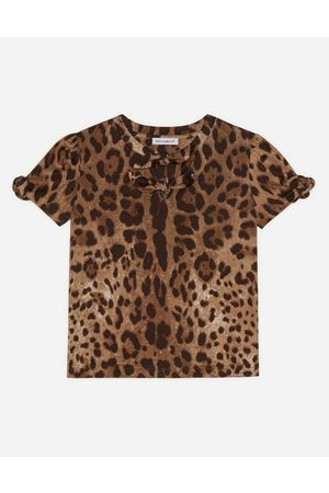 Dolce & Gabbana Collection - JERSEY TOP WITH LEOPARD PRINT female 6