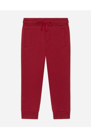 Dolce & Gabbana Trousers and Shorts - JERSEY JOGGING PANTS WITH LOGO PLAQUE male 2