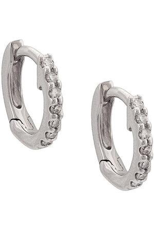 Dana Rebecca Designs Women Rings - 14kt white gold diamond huggies