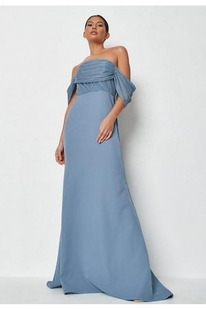 Missguided Mesh Organza Bandeau Gown