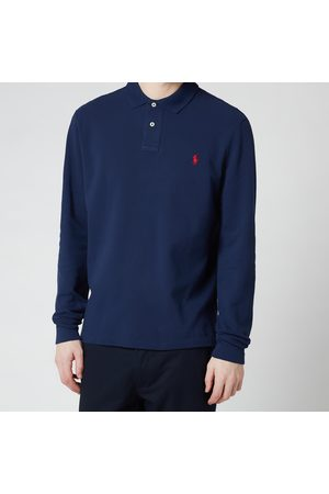 Polo Ralph Lauren Men's Slim Fit Mesh Long Sleeve Polo Shirt