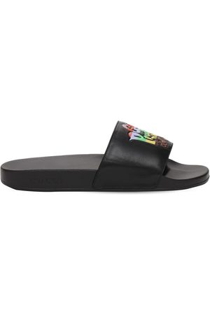 Gucci Leather Slide Sandals