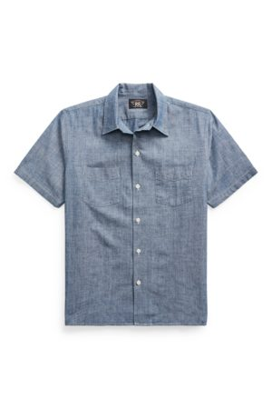 RRL Indigo Chambray Camp Shirt