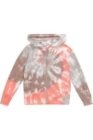 BONPOINT Hooded tie-dye cotton cardigan