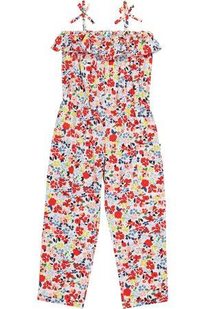 BONPOINT Girls Printed Dresses - Shannon floral cotton jumpsuit