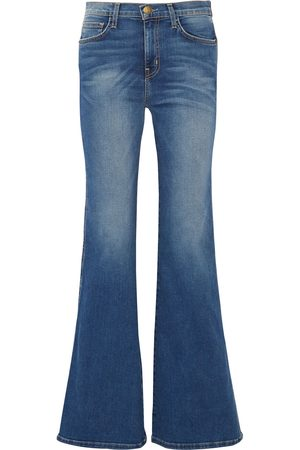 Current/Elliott Women Bootcut - Woman The Girl Crush Faded Mid-rise Flared Jeans Mid Denim Size 23
