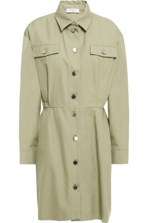 Sandro Woman Liana Cotton-twill Mini Shirt Dress Sage Size 34