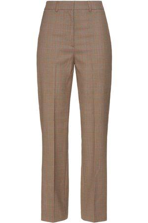 Paul & Joe Women Trousers - Woman Prince Of Wales Checked Jacquard Straight-leg Pants Size 36