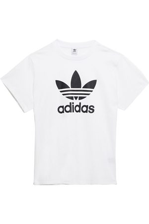 adidas Woman Printed Cotton-jersey T-shirt Size 30