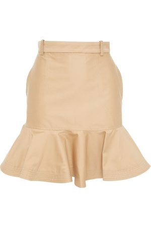 Sandro Women Mini Skirts - Woman Fluted Cotton-twill Mini Skirt Size 0