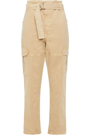 Frame Woman Safari Belted Cotton-blend Twill Straight-leg Pants Size 26