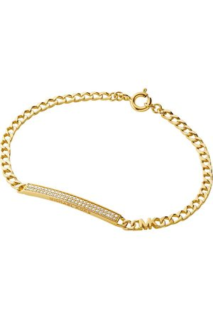 Michael Kors Gold Stainless Steel Curb Statement Necklace